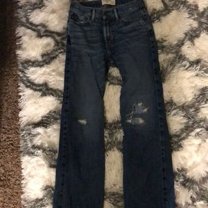 Boys Abercrombie boot cut jeans 13/14 slim